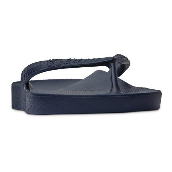 Navy Arch Support Thongs Archies Front View