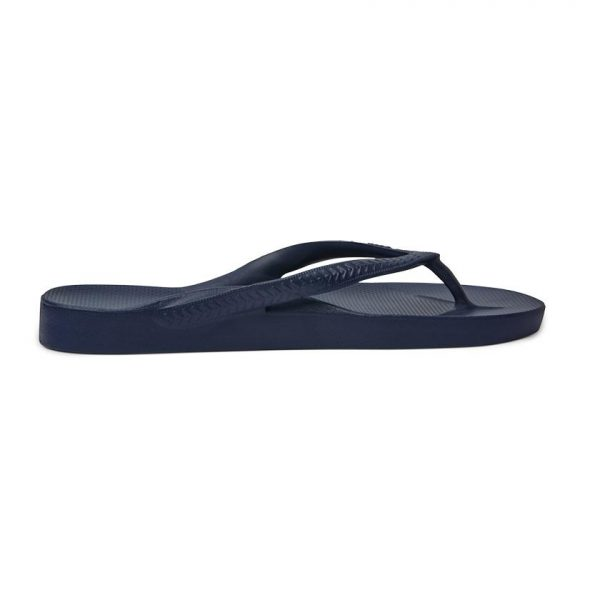 Navy Arch Support Thongs Archies Side View